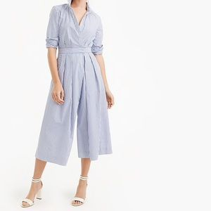 J Crew Wide Leg Jumpsuit in Shirting Stripe 10